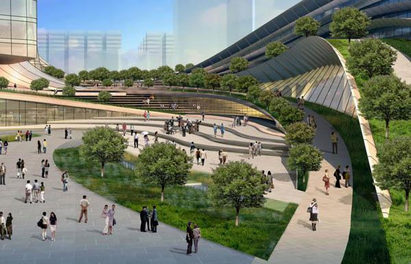 Express Rail Link West Kowloon Terminus - le meilleur projet futuriste de l'année