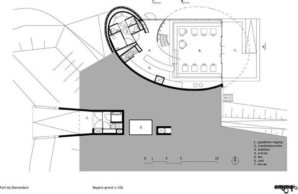 Visitor Center – павильон-кафе в Амстердаме от Emma Architecten