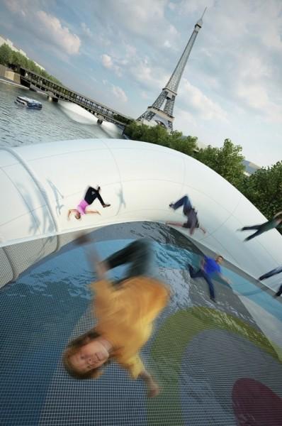 Через воду по воздуху. Креативный проект моста в Париже