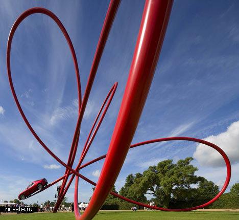Арт-проект Alpha Romeo Centenary Sculpture от Gerry Judah. «Траектория» столетнего цикла бренда Alfa Romeo