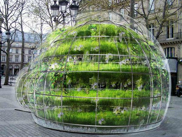 Инсталляция Ma Bulle, Ma Plante and Moi от Эмори Галлон (Amaury Gallon) в Париже