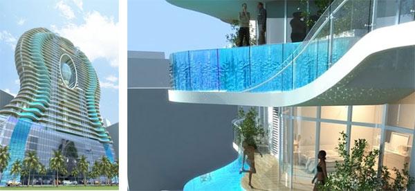 «Бесконечные» квартиры жилого комплекса Bandra Ohm Residential Tower в Индии