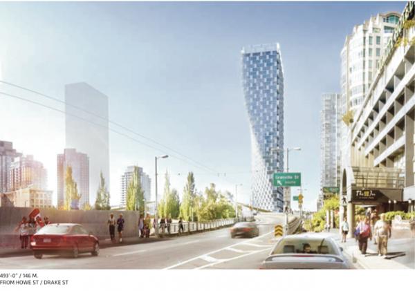 Многофункциональный небоскреб Beach and Howe Twisting Residential Tower в Ванкувере (Канада)