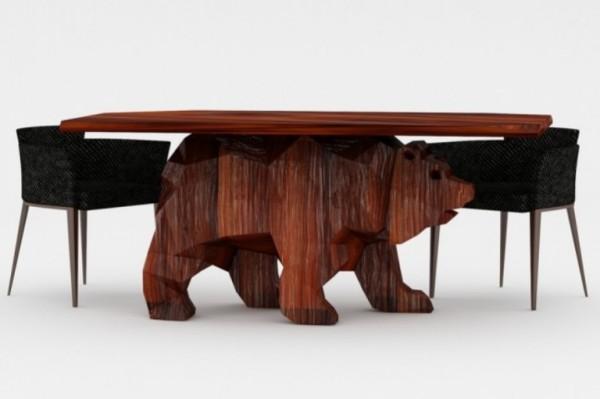 Кофейный столик Bear-Shaped Table от российских дизайнеров из Napalm