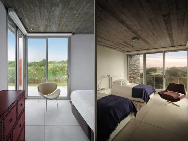 Black And Red Residence - дом с двумя каминами от Martin Gomez Arquitectos
