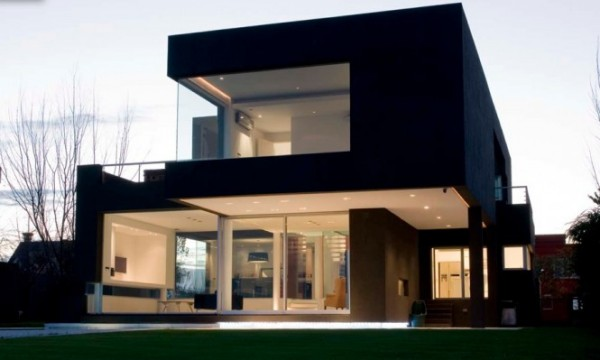 Black Modern House минималистский дом с бассейнами в Аргентине