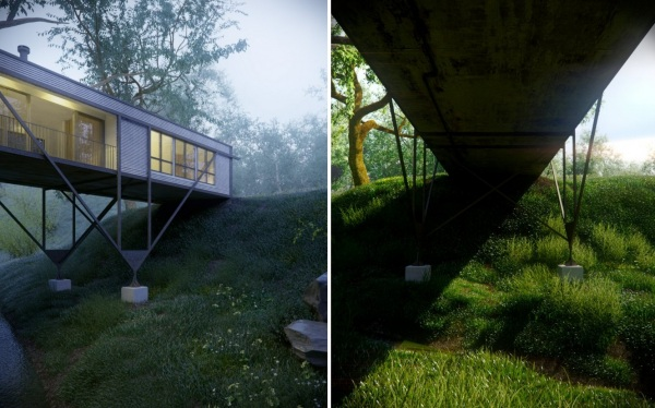Bridge House – лесной дом-мост от Макса Притчарда (Max Pritchard)
