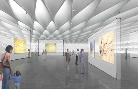 Проект музея Broad Art Museum от Diller Scofidio + Renfro в Лос-Анджелесе