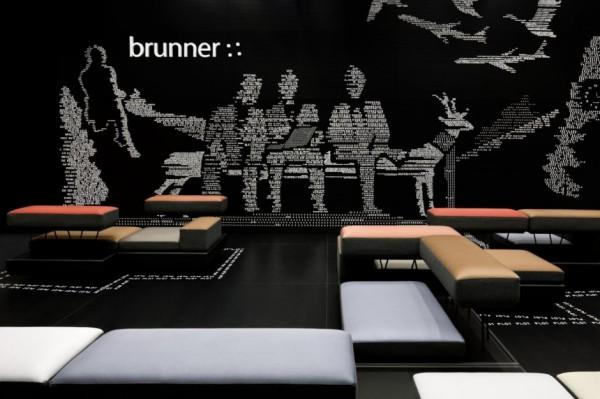 Креативный стенд мебельной компании Brunner на 2012 Salone del Mobile show