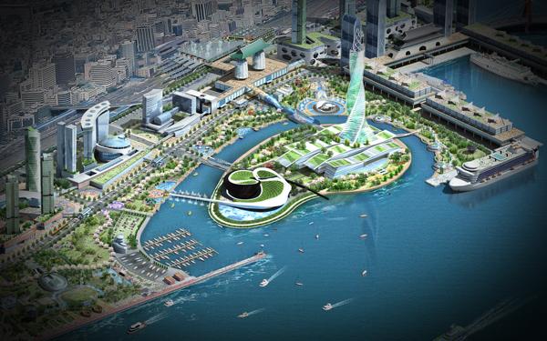 Проект футуристического здания оперного театра Busan Opera House в Корее