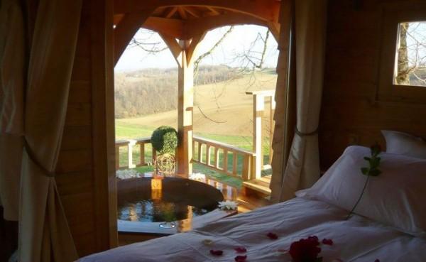 Cabane spa treehouse - Cabane et spa marmande ...