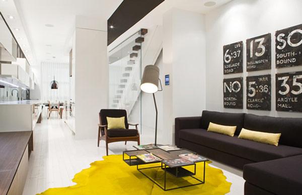 «Инъекции» желтого в стильом интерьере от Cecconi Simone