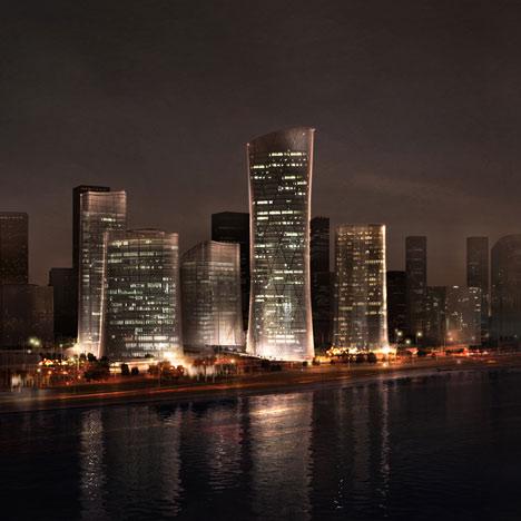 Проект делового района Central Business District Wenzhou от Henn Architekten