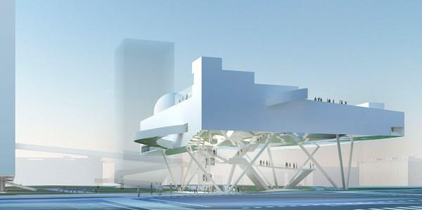 Проект здания Centre for Promotion of Science в Белграде от Вольфгана Чапелера (Wolfgang Tschapeller)