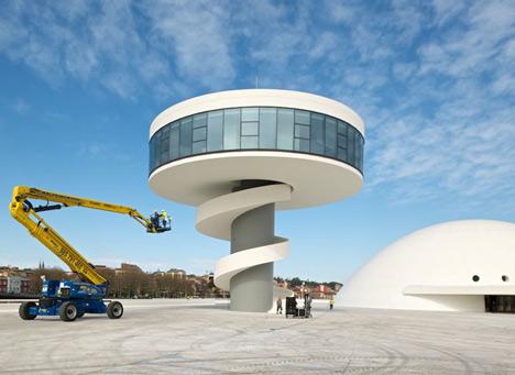 Культурный центр Centro Niemeyer от Оскара Нимейера (Oscar Niemeyer)