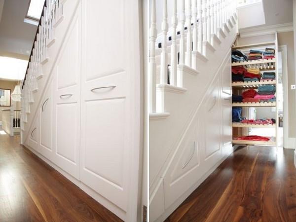 Лестница-шкаф от лондонских дизайнеров из Chiswick Woodworking Company