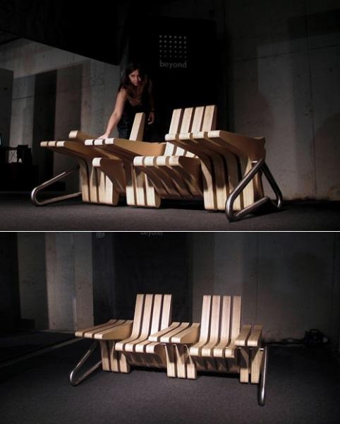 Многофункциональная скамья Coffee Bench от польских дизайнеров