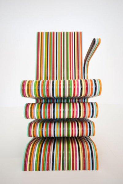 Colorful Striped Chair – антидепрессивная мебель от Энтони Хартли (Anthony Hartley)