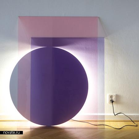 Лампа Colour. Игра в составление композиций