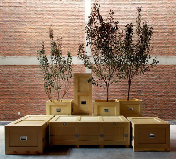 Crates - креативная мебель от Найан Ли (Naihan Li)