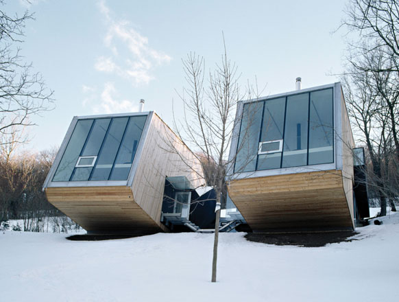 Жилые дома DOK doppelhaus от Querkraft Architekten в Австрии