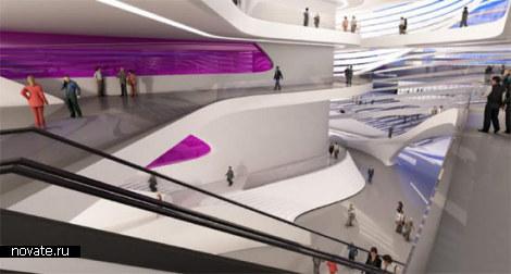 Dance and music center в Гааге. «Стирающий границы» проект от Захи Хадид