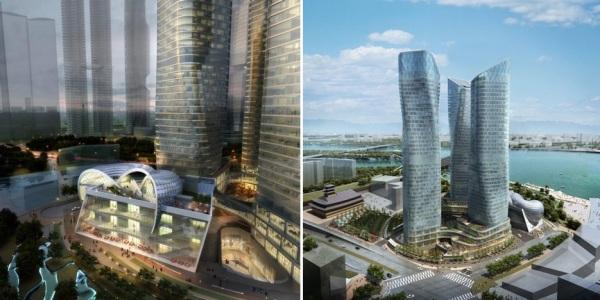 Проект комплекса Dancing Towers в Сеуле (Южная Корея)