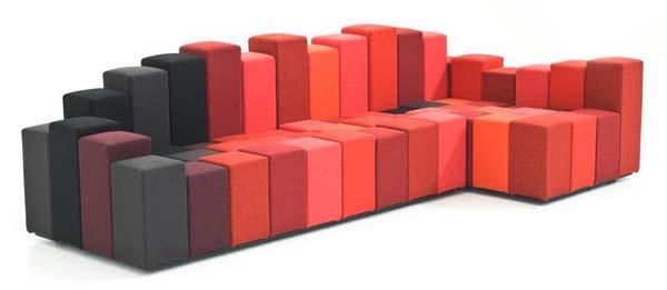 Стильный диван-конструктор Do-Lo-Rez от Рона Арада (Ron Arad)