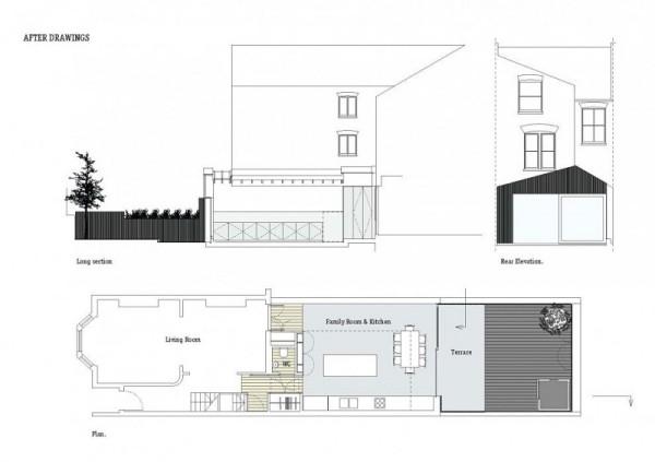 Dove Hous - современное расширение старинного викторианского дома в Лондоне
