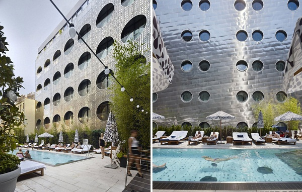 Светоотражающие фасады отеля Dream Downtown Hotel в Нью-Йорке