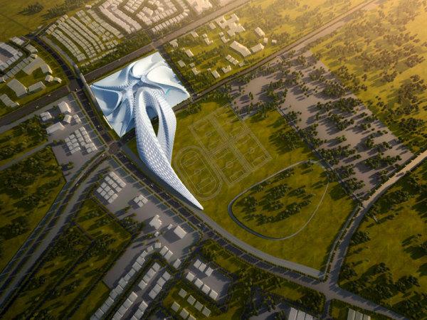 Elk grove civic centre - проект развития пригорода Сакраменто от Захи Хадид (Zaha Hadid)
