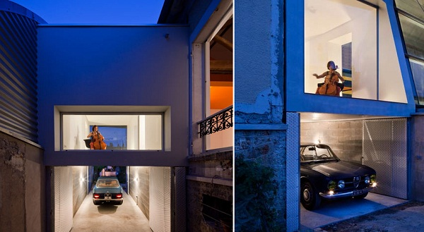Музыкальный гараж в реконструированном парижском доме 20-х годов прошлого столетия от Cut Architectures