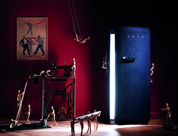 Модель холодильника FAB28 Denim от Smeg