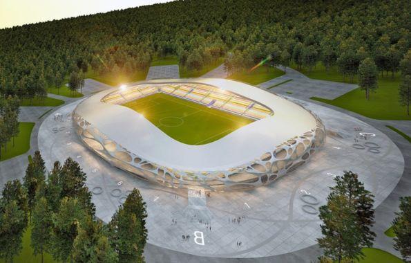 Новый стадион для белорусского футбольного клуба FC Bate Borisov от OFIS arhitekti
