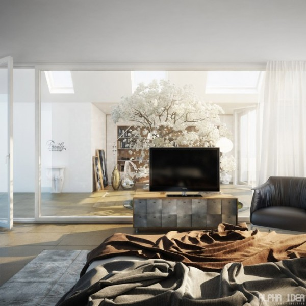 Дом с мансардными окнами и внутренним двором от Alpha Idea