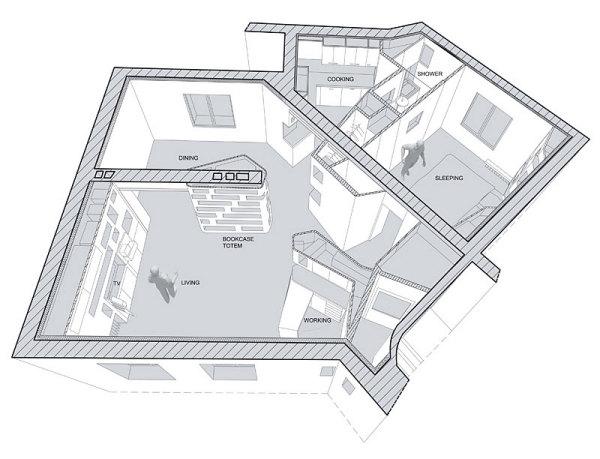 Front and Back Apartment – «встроенная» квартира в Париже