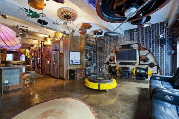 Квартира фаната книг Жюля Вернав Челси (Нью-Йорк, США)