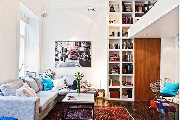Маленькое пространство: дизайн в шведском стиле на 38 квадратных метрах...