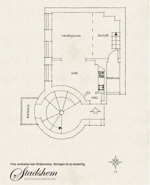 Шведский мини-лофт на 38 квадратных метрах