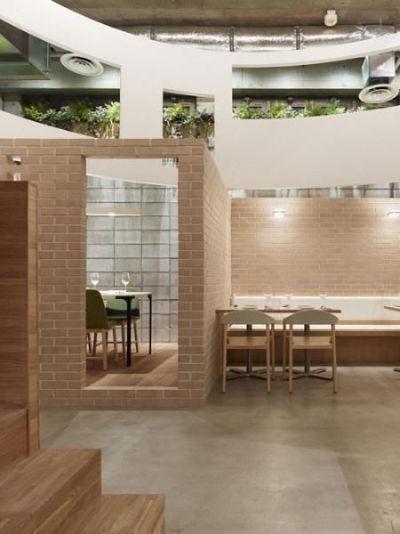 Японский лофт в токийском ресторане +Green Restaurant от Sinato