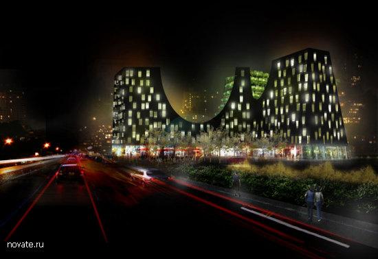 Проект многоцелевого комплекса Greenside Out от JA Joubert Architecture