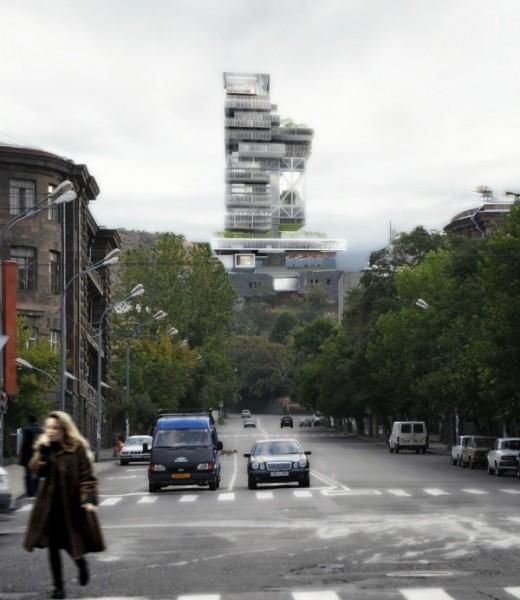 Проект бизнес-центра компании Mercedes Benz для Еревана (Армения)