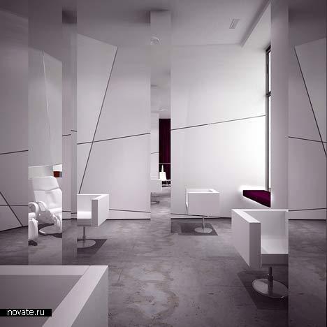 Интерьер салона красоты от Moomoo architects в Варшаве