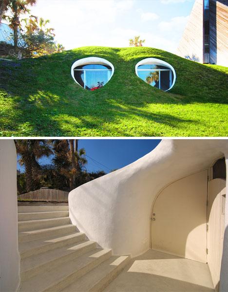 Жилой дом Hobbit-Hole Duplex Dug Out от Уильяма Моргана (William Morgan)