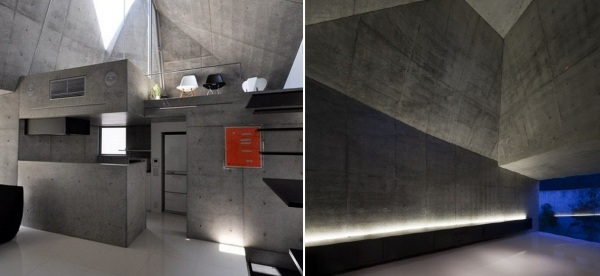 Фантастическая бетонная геометрия дома House in Abiko в Японии