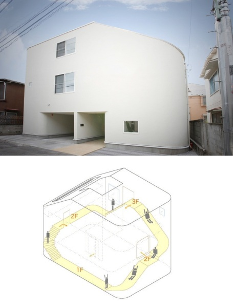 Жилой дом House with slide от Level architects в Японии