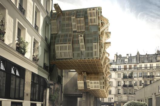 Инновационное общежитие для студентов в Париже (Франция) от Stephane Malka