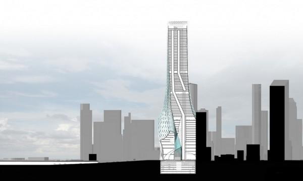 Edgar Street Towers небоскреб с интегрированной системой биофильтрации