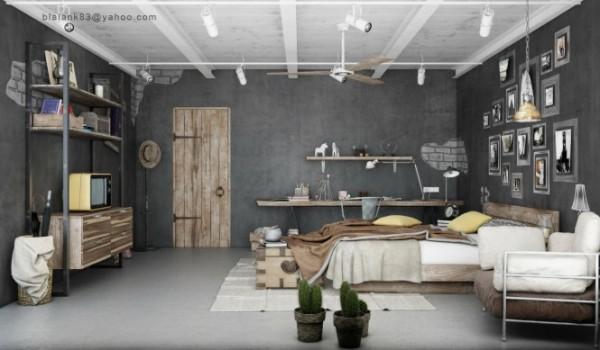 Интерьер спальни от Blalank Studio