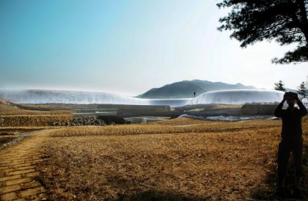 Музей Jeongok Prehistory Museum от X-TU Architects в Южной Корее